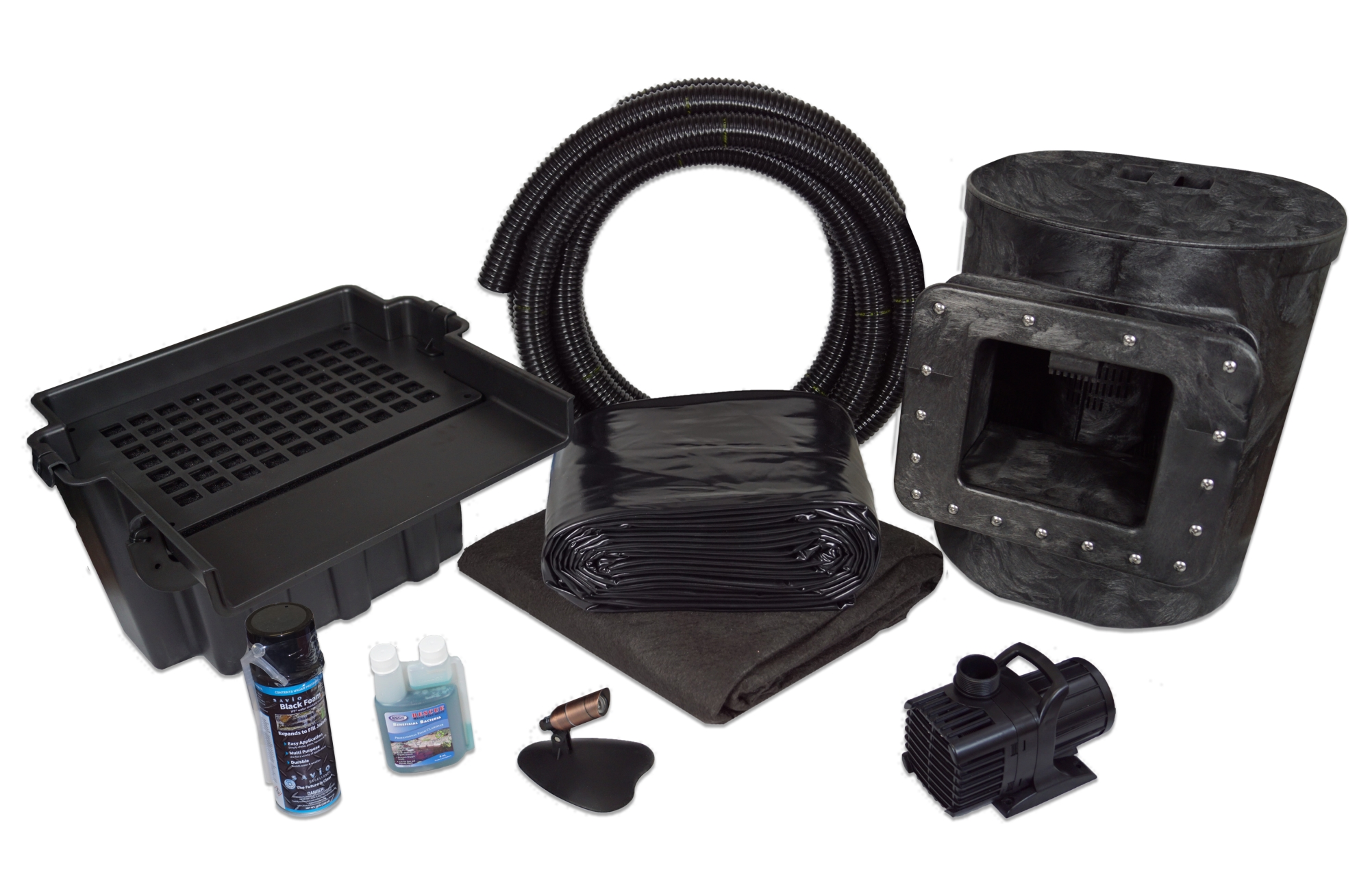 Streams Fountains and Water Gardens 20-mil Black PVC for Koi Ponds 12 x 75 Pond Liner